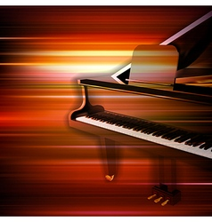 abstract red blur music background with grand vector image vector image