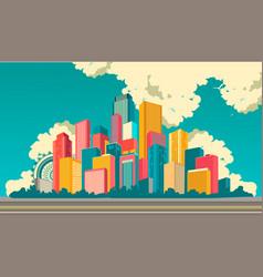 city landscape on the sky background vector image