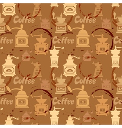 coffee circles seamless 2 380 vector image