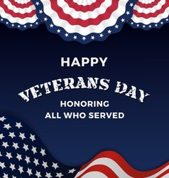 Happy Veterans Day Background vector image