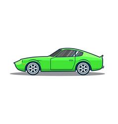 old japan sport car vector image