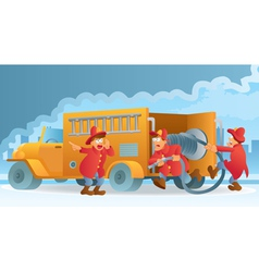 fireman in action vector image vector image