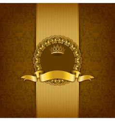 Luxury background with ornament frame vector image vector image