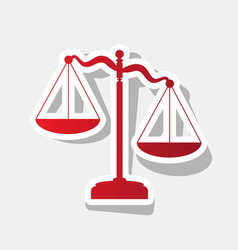 scales of justice sign new year reddish vector image