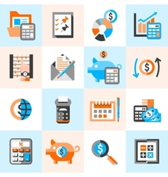 Accounting icons set vector image vector image