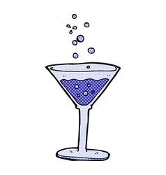 comic cartoon cocktail vector image vector image