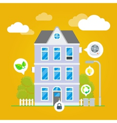 Flat House Infographic vector image vector image