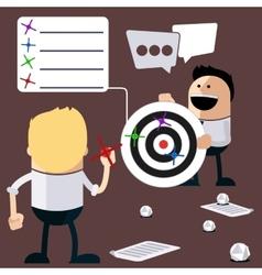 Happy people play darts vector image