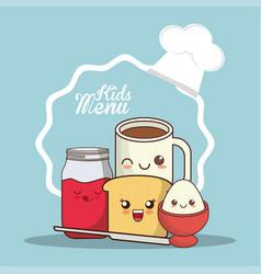 kids menu meal fresh breakfast vector image vector image