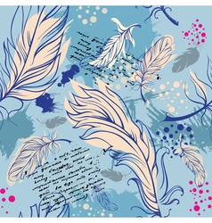Seamless with feathers vector image vector image
