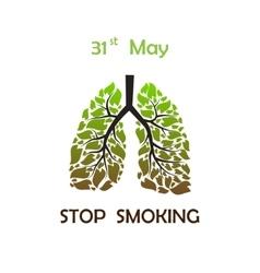 Stop smoking background vector