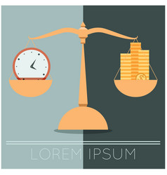 Business concept about time and money vector