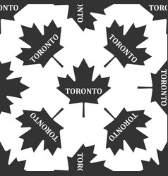 Canadian maple leaf with city name toronto icon vector