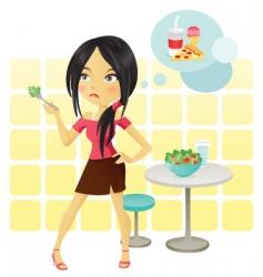 diet girl vector image vector image