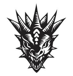 Dragons head tattoo vector image vector image