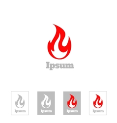 Fire flame logo design template Corporate vector image vector image