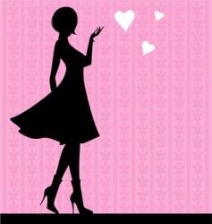girl love vector image vector image