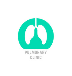 green simple pulmonary clinic logo vector image vector image