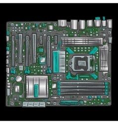Hand drawn motherboard vector image