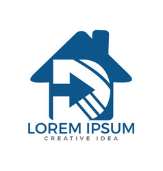 home letter d logo design vector image