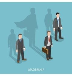 Leadership isometric flat concept vector image