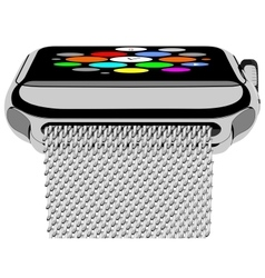 Silver photorealistic smart watch vector image vector image