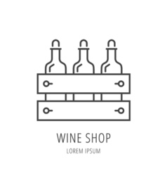 Simple Logo Template Wine Shop vector image