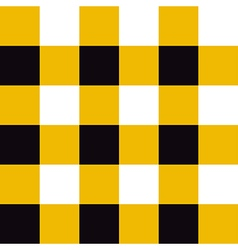Yellow Black White Chessboard Background vector image vector image
