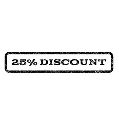 25 percent discount watermark stamp vector
