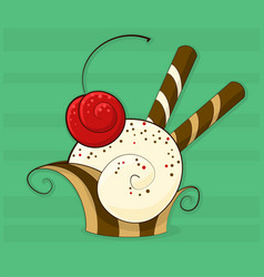 abstract cupcake vector image