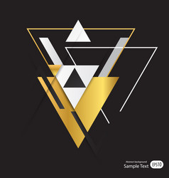 abstract gold geometric background with triangles vector image
