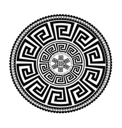 ancient round ornament isolated black vector image