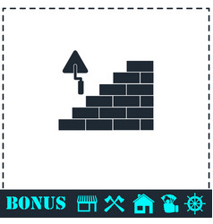 architecture and building icon flat vector image