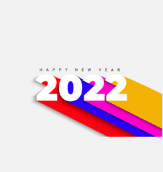 Banner for 2022 new yearnumbers with long shadow vector