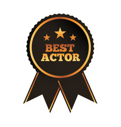 best actor award rosette ribbon image vector image