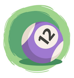 billiard ball number 12 purple vector image