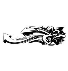 black and white graffiti background vector image