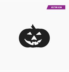 Black smiling scary halloween pumpkin icon vector