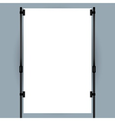 Blank banner display vector