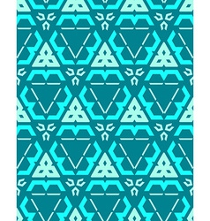 Blue green cyan color abstract geometric seamless vector