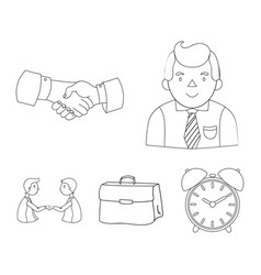 businessman handshake portfolio agreement vector image