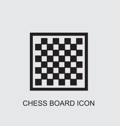 Chess board icon vector