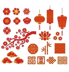 Chinese korean or japan icons for new vector