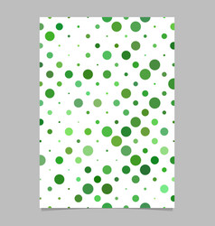 circle pattern brochure template - cover vector image