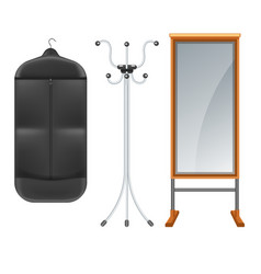 Clothing suit bag with coat rack and full length vector