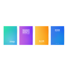 collection minimalistic cover template vector image