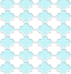 Colored 3d blue horizontal marrakech vector