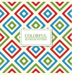 colorful seamless geometric pattern - fabric grid vector image