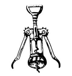 corkscrew simple vector image