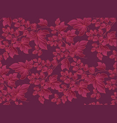 decorative currant branches seamless pattern vector image